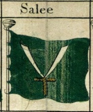 The flag of the 17th century pirate Republic of Salé.