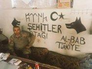 A member of the Turkish army near al-Bāb in Syria.