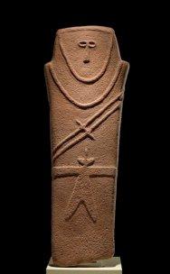 A 4th millennium BC anthropomorphic stele, found near al-Ḥā'il - Saudi Arabia.