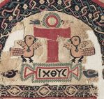6th century Coptic linen and woolen tapestry.