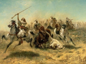 arab-horsemen-on-the-attack-adolf-schreyer-e1562367380626